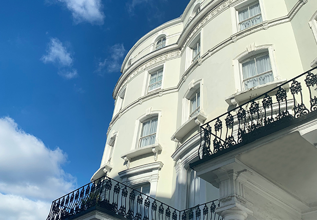 facade of west london building