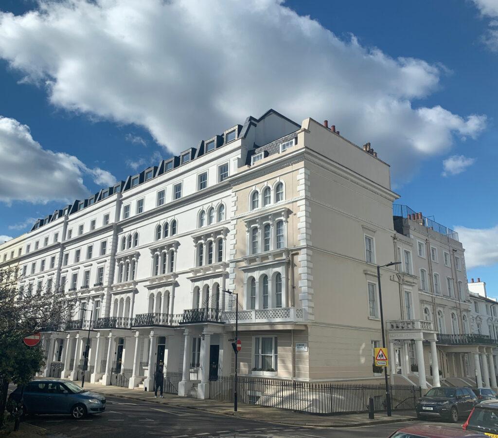 budget west london hotel building