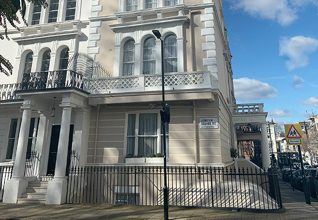 outdoor view of budget hotel london