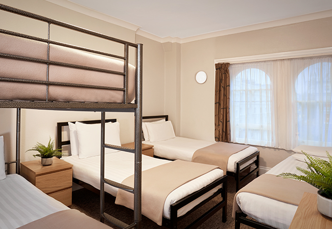 five bed family room in budget london hotel