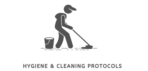 covid hygeine and cleaning pictogram
