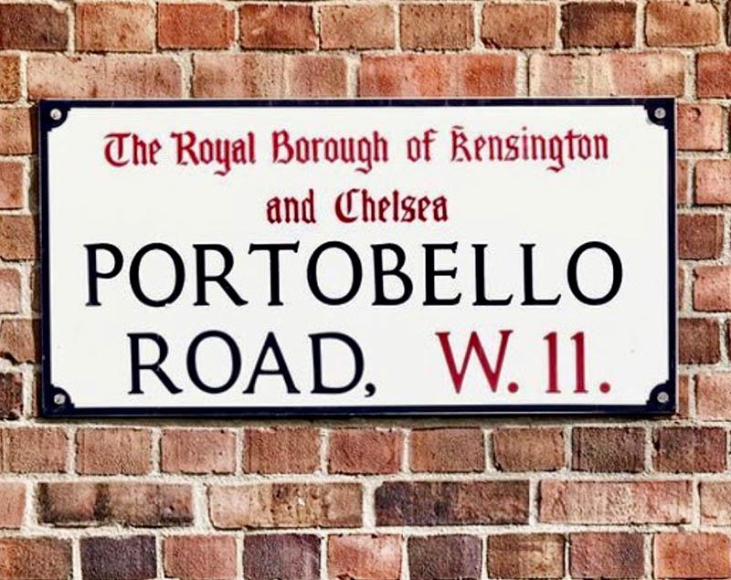 portobello road london street sign