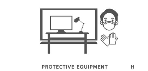 covid protective equipment pictogram