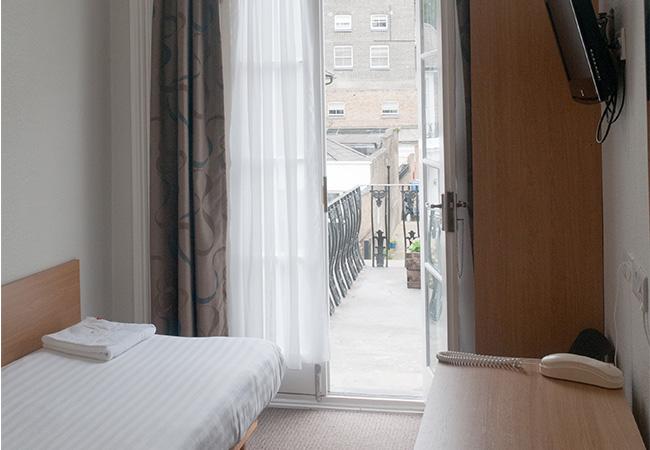 budget hotel single room with balcony