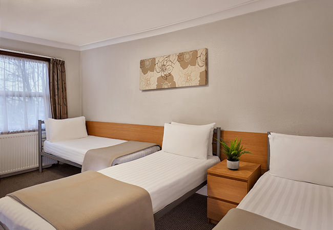 three bed room at budget west london hotel
