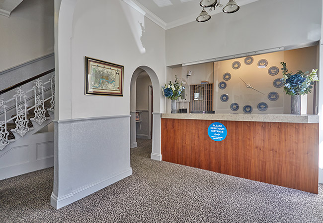 covid secure budget london hotel room reception
